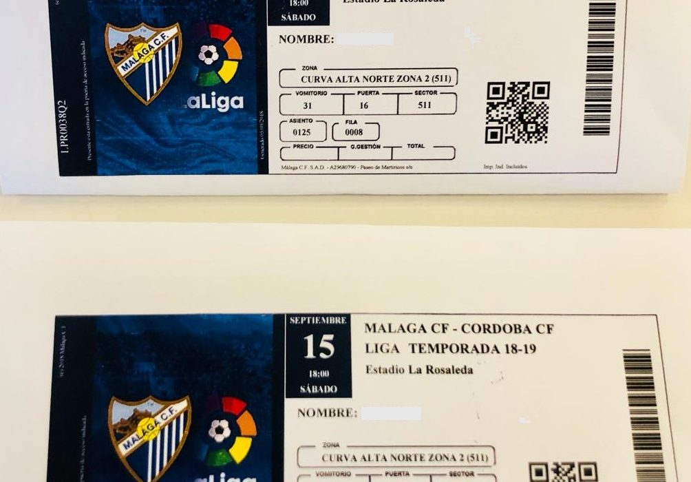 Sorteo 2 Entradas Partido Málaga Club De Fútbol